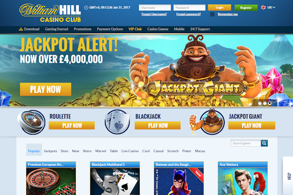 William hill casino club desktop