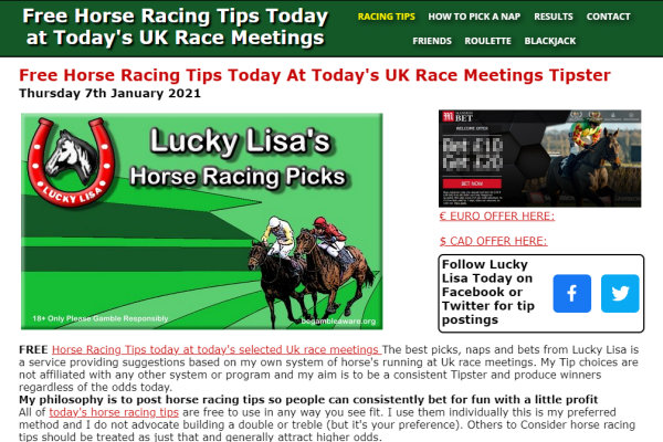 Horse Racing Tipsters
